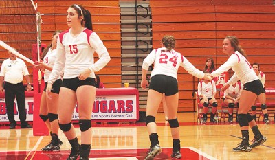 Volleyball hit with first district loss