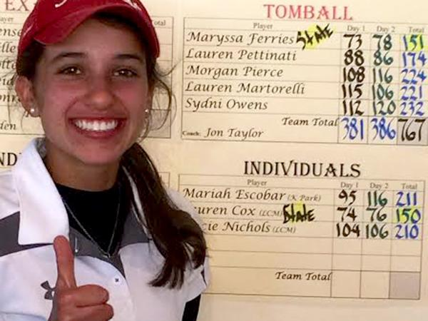 Golfer heading to state