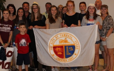 German exchange students experience Tomball