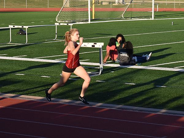 Caroline Flanagan in a relay earlier this year at TMHS.