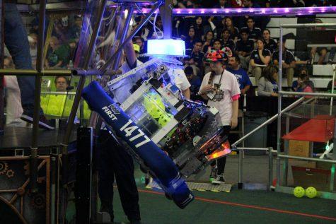 Student discovers fun of Robotics