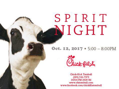 Tonight is Spirit Night at Chick-fil-A