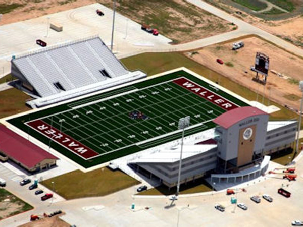The Waller High School football stadium is similar to the one TISD would build.