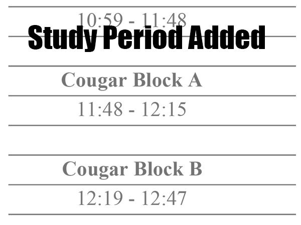 Cougar Block schedule starts Wednesday