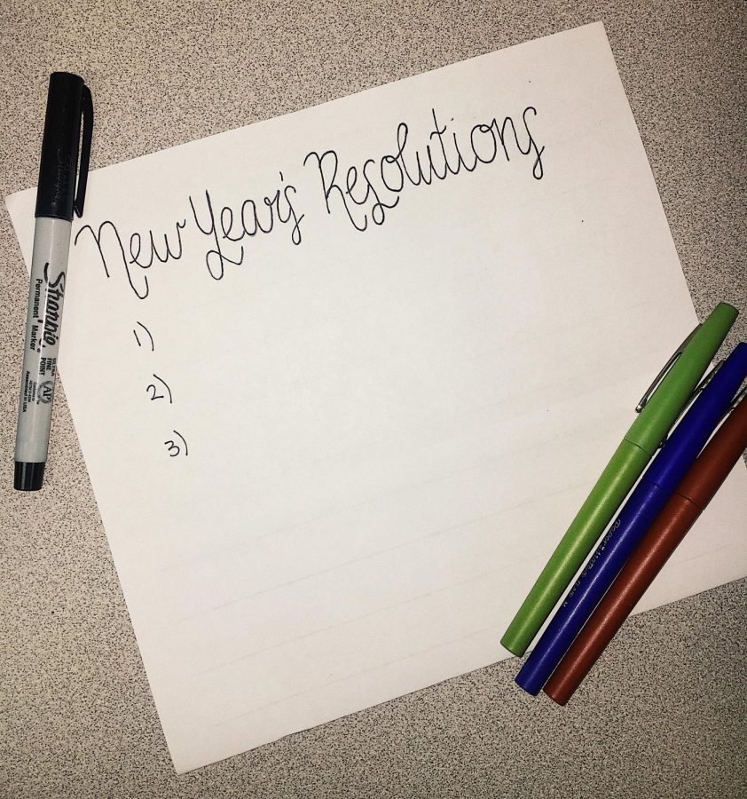 Time to make New Year's resolutions