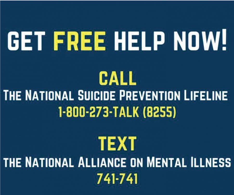 Please use the phone numbers or text lines if you feel like you need someone to help you.