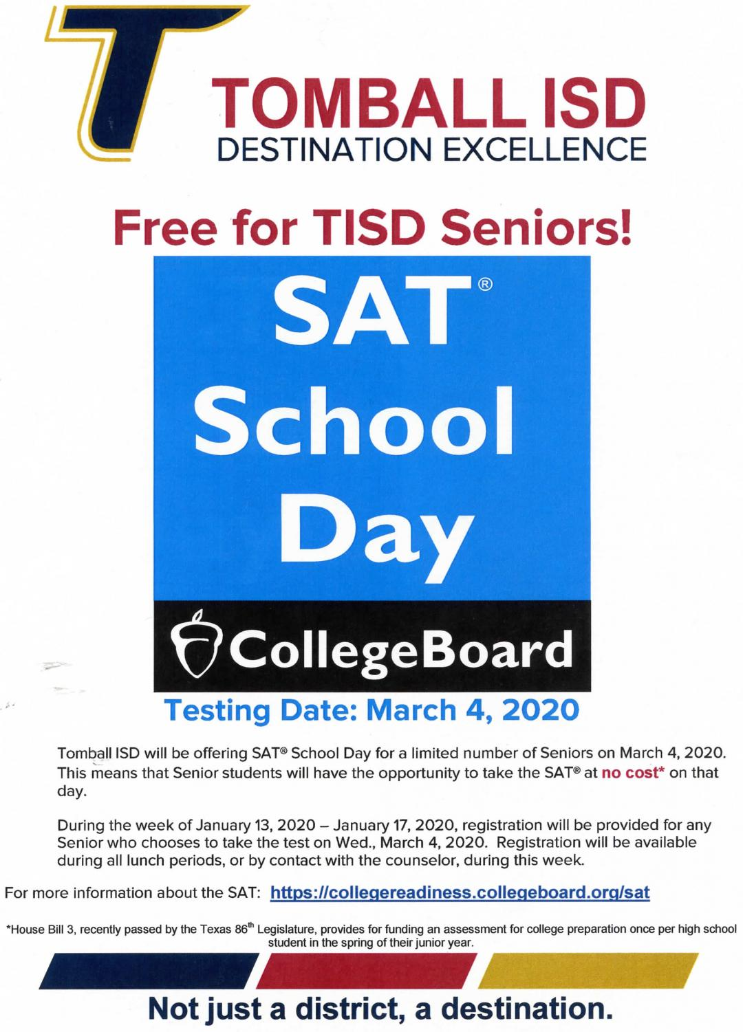 This flier was sent out to all seniors in the school district.