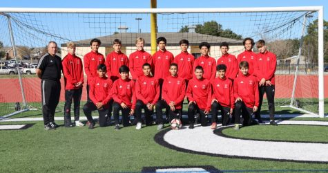 Varsity Boys Soccer Team, Staff Photo