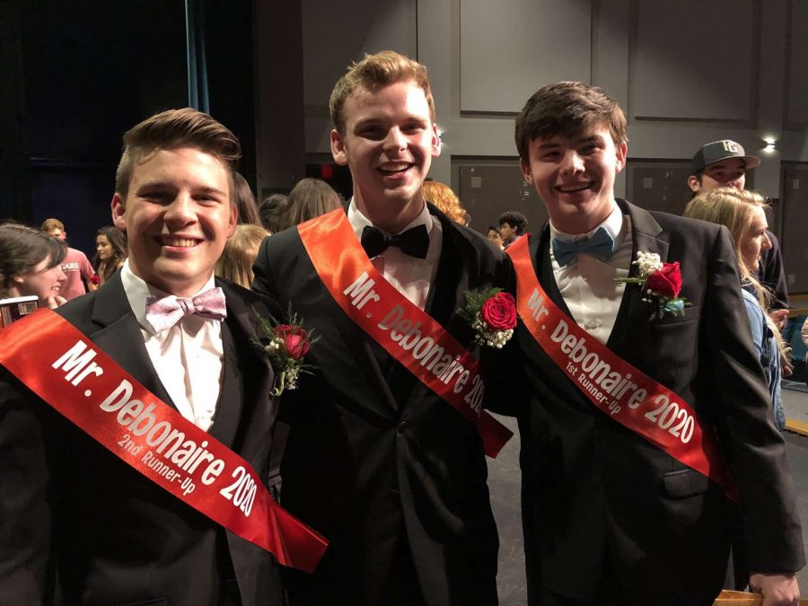Winners at Mr Debonaire competition