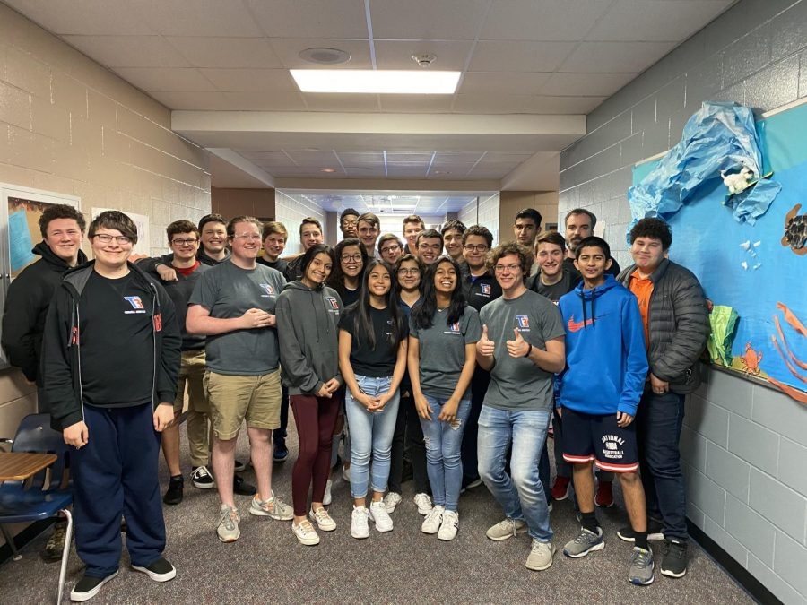 (Photo Courtesy of THS Yearbook) Group photo of the T3 Robotics Team.