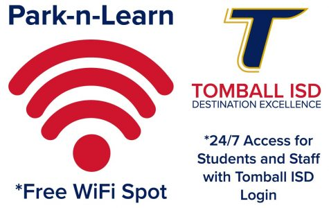 Students can park at select campuses to access the district WiFi network.