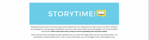 """Storytime for young coogs with new """"outreach"""" project"""