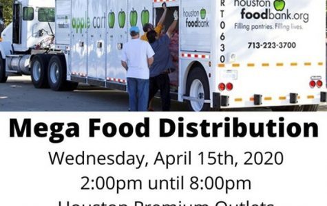 There will be a food distribution effort today at the Houston Premium Outlet parking lot.