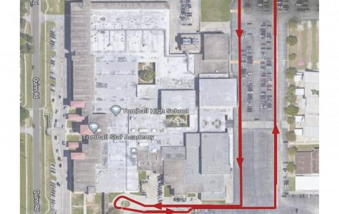Map for yearbook pickup.