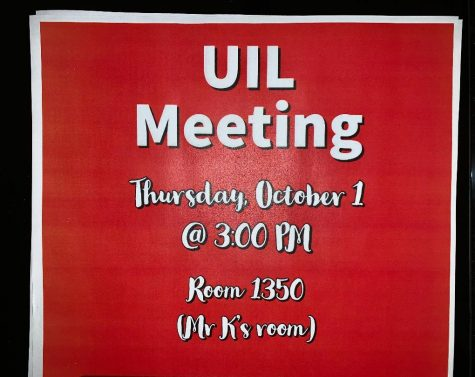 First UIL meeting today after school