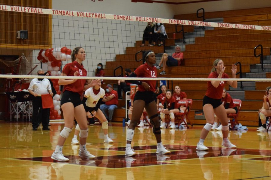 Volleyball looks to hang on to a playoff position going into the last few district games this season.