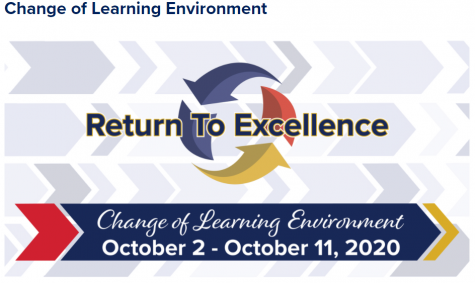 Changes in learning environment open now through Sunday, Oct. 11.