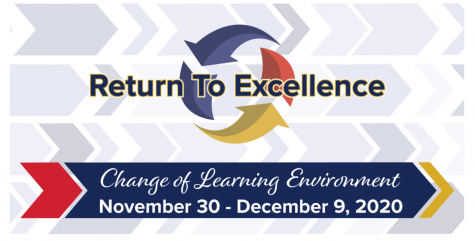 Learning environment changes are currently taking place.