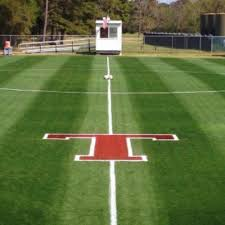 The soccer team field at Tomball High School.