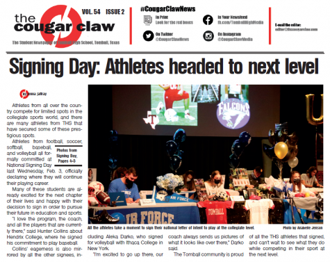 The second issue of the Cougar Claw features many exciting stories, including full coverage of National Signing Day.