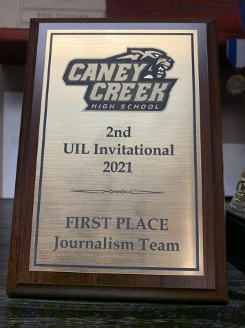 The newspaper staff took first place as a team for the Academic UIL Journalism events at the invitational meet.