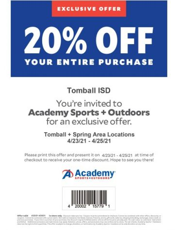 Academy offering discount for students, staff this weekend