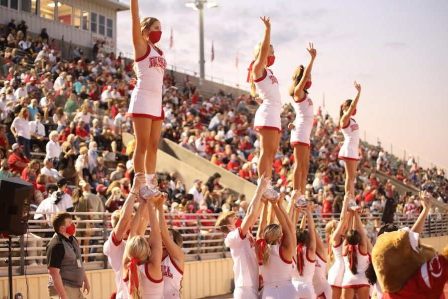 The cheerleaders are gearing up for a new year.