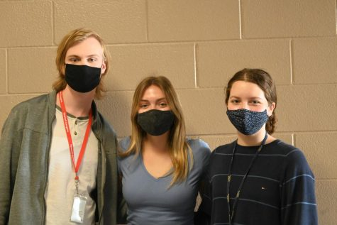 From left to right: Nate Breaux (11), Jenna Jaffray (12), and Catherine Walker. Eric Zalcman (12) not pictured.