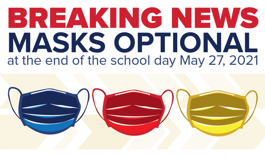 Masks will become optional at the end of the last school day.