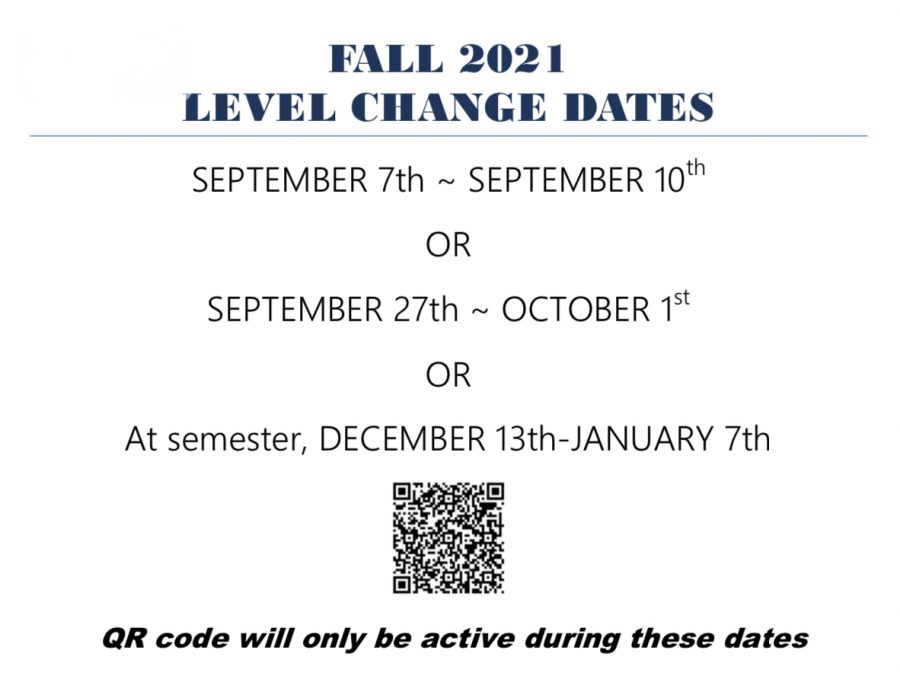 Second round of Fall level changes starts this week