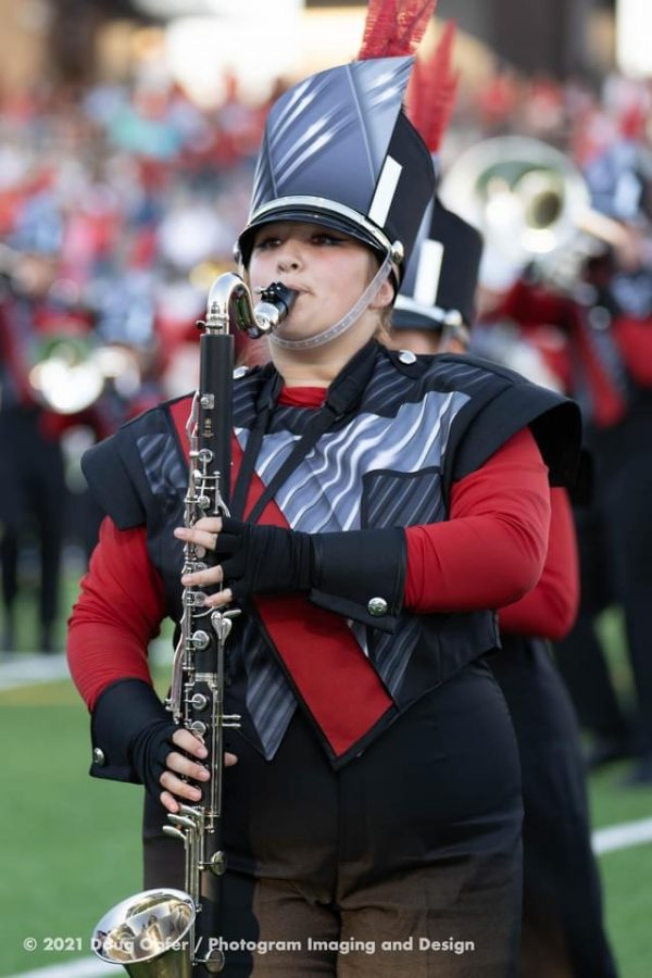Emily Isaacks has been in band for five years.